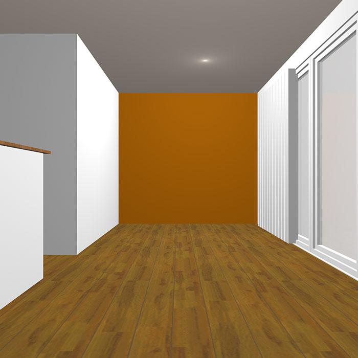 ダークトーンのオレンジの壁紙クロス
