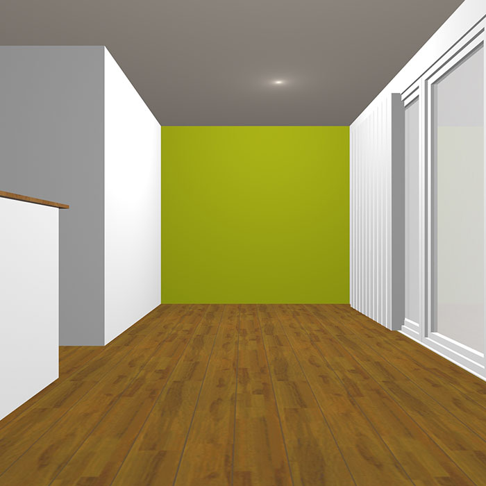 ダークトーンの黄緑の壁紙クロス