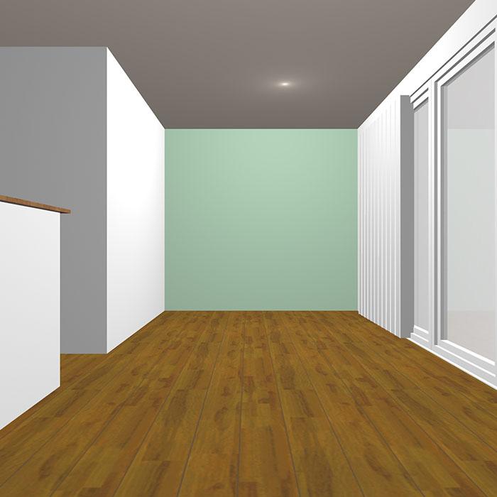 ライトグレイッシュトーンの緑の壁紙クロス