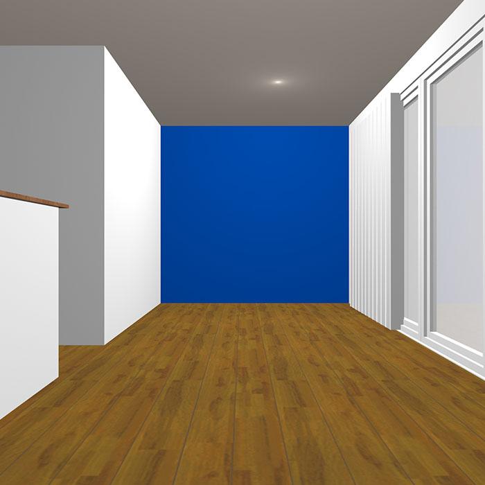 ヴィヴィッドトーンの青の壁紙クロス