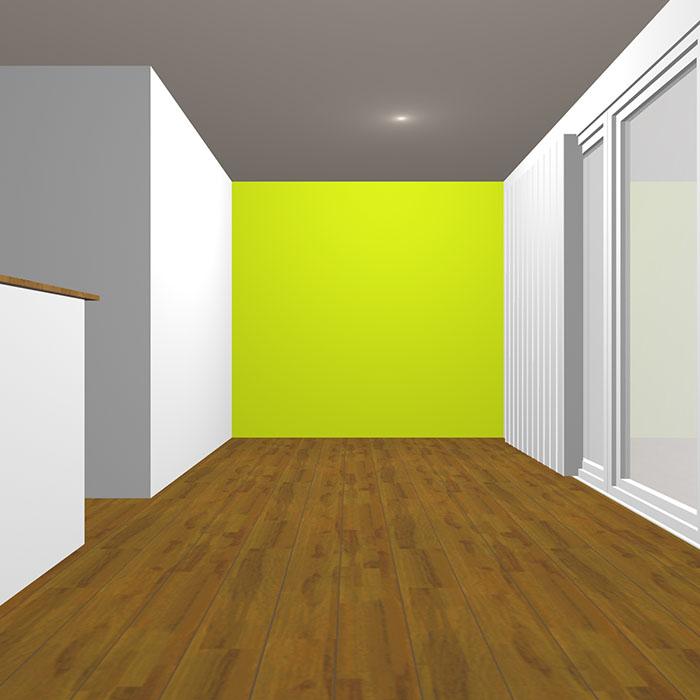 ヴィヴィッドトーンの黄緑の壁紙クロス