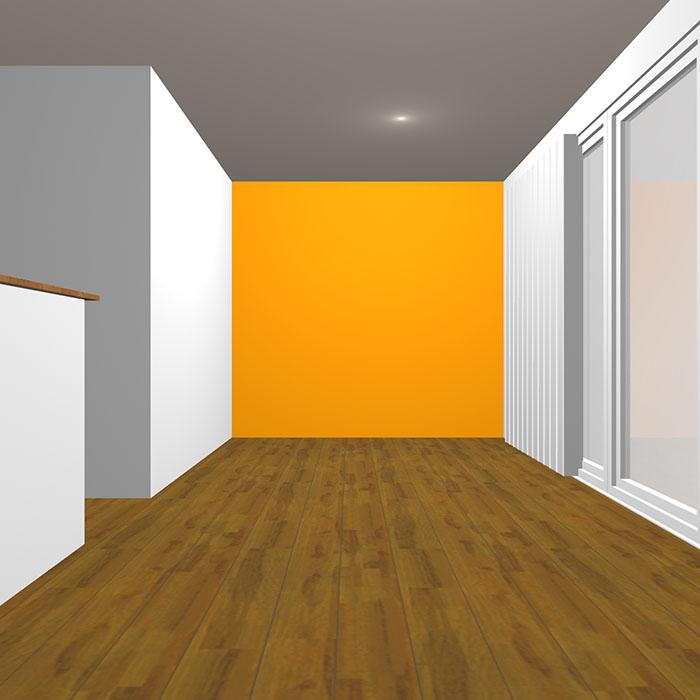 ヴィヴィッドトーンのオレンジの壁紙クロス
