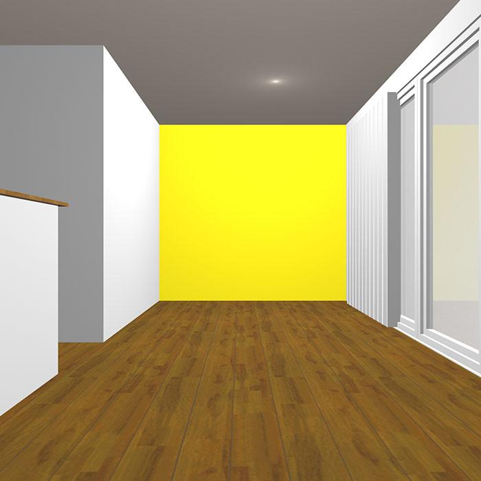 ヴィヴィッドトーンの黄色の壁紙クロス