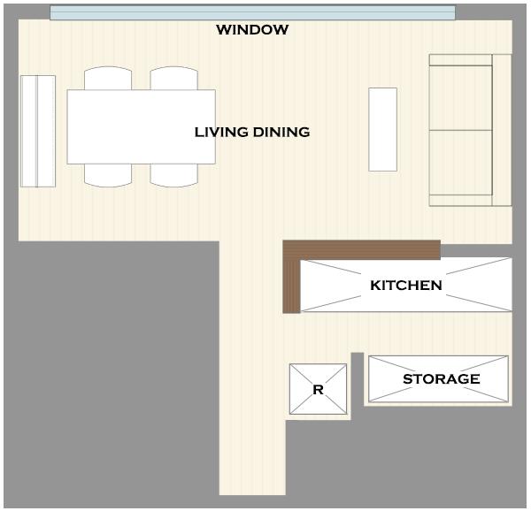 横長リビングの家具レイアウト14