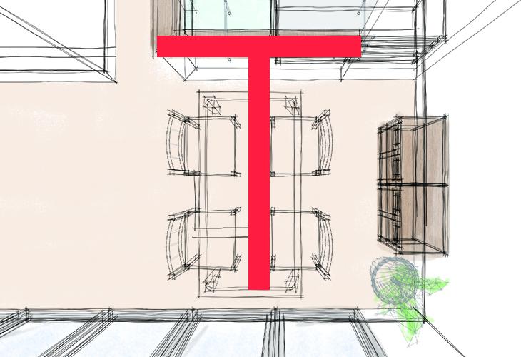 「T」の文字