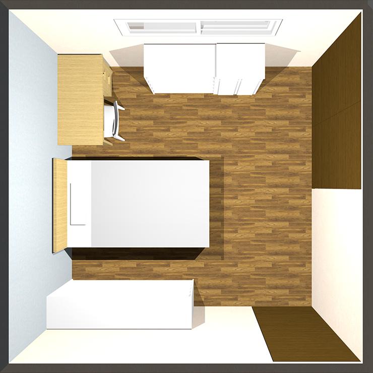 8畳の子供部屋のレイアウト例