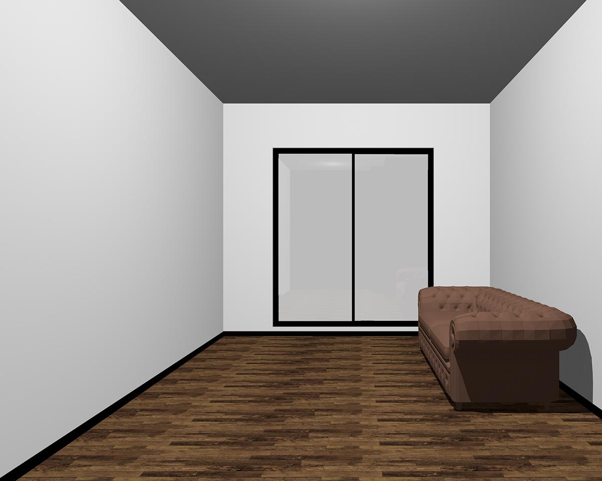 天井が暗い部屋