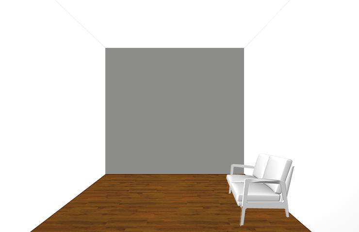 間口の狭い壁が暗い部屋