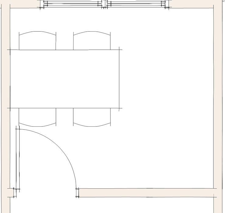 ドア(開口)と家具の関係①