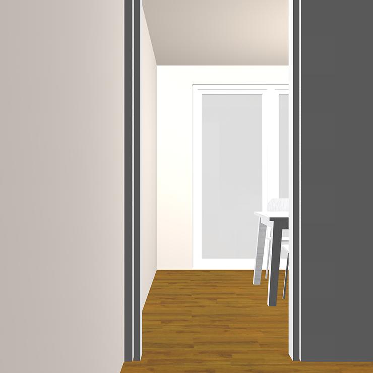ドア(開口)と家具の関係パース③