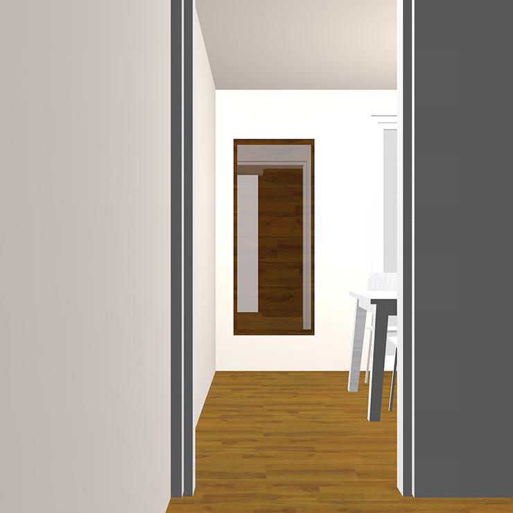ドア(開口)と家具の関係パース④
