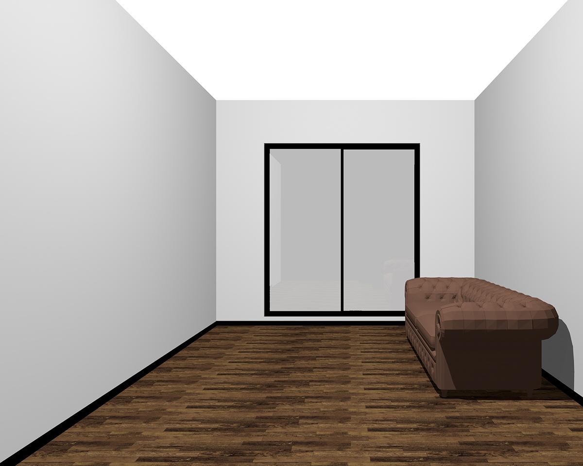 天井に行くほど明るい部屋