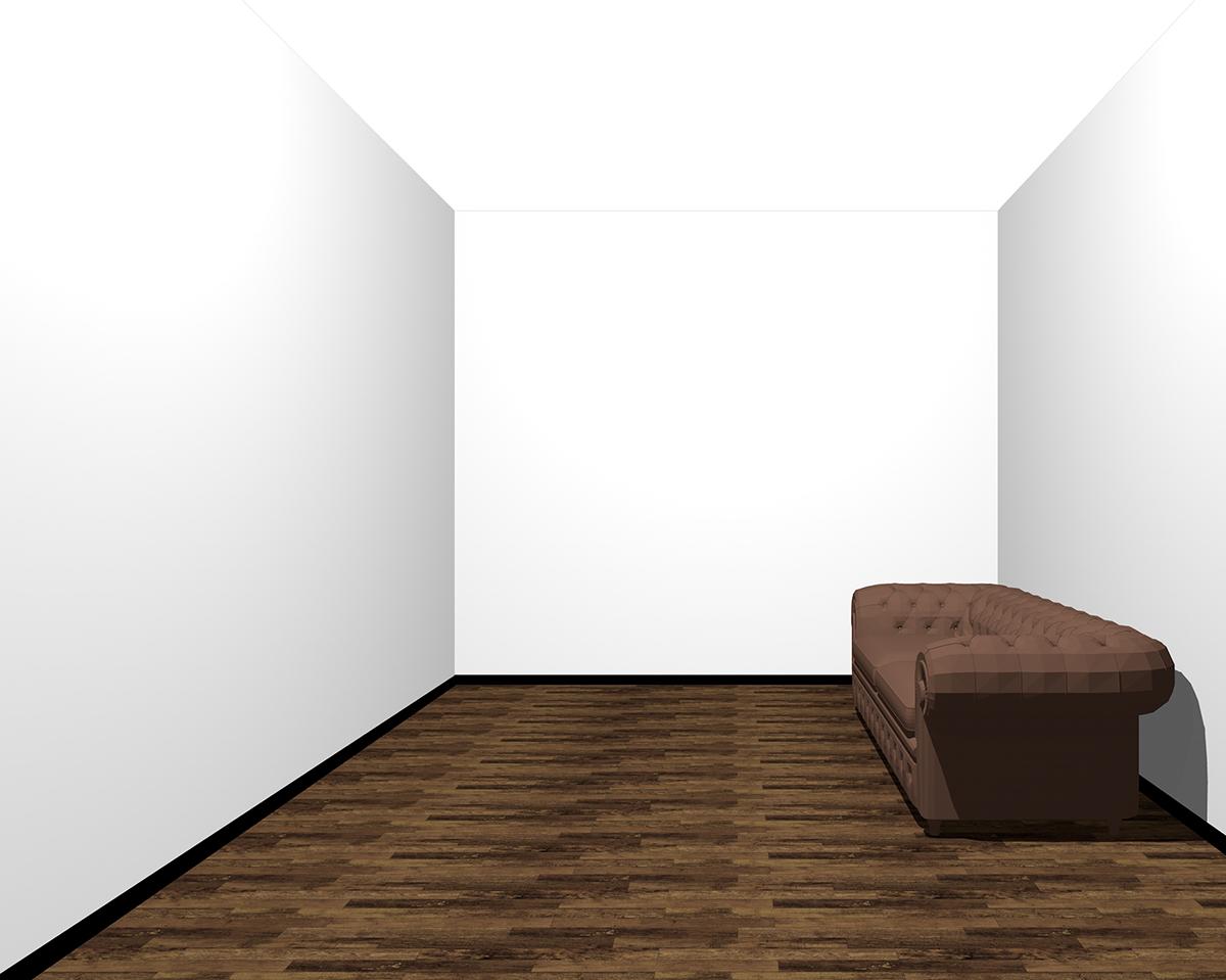 全部の壁を明るくした部屋