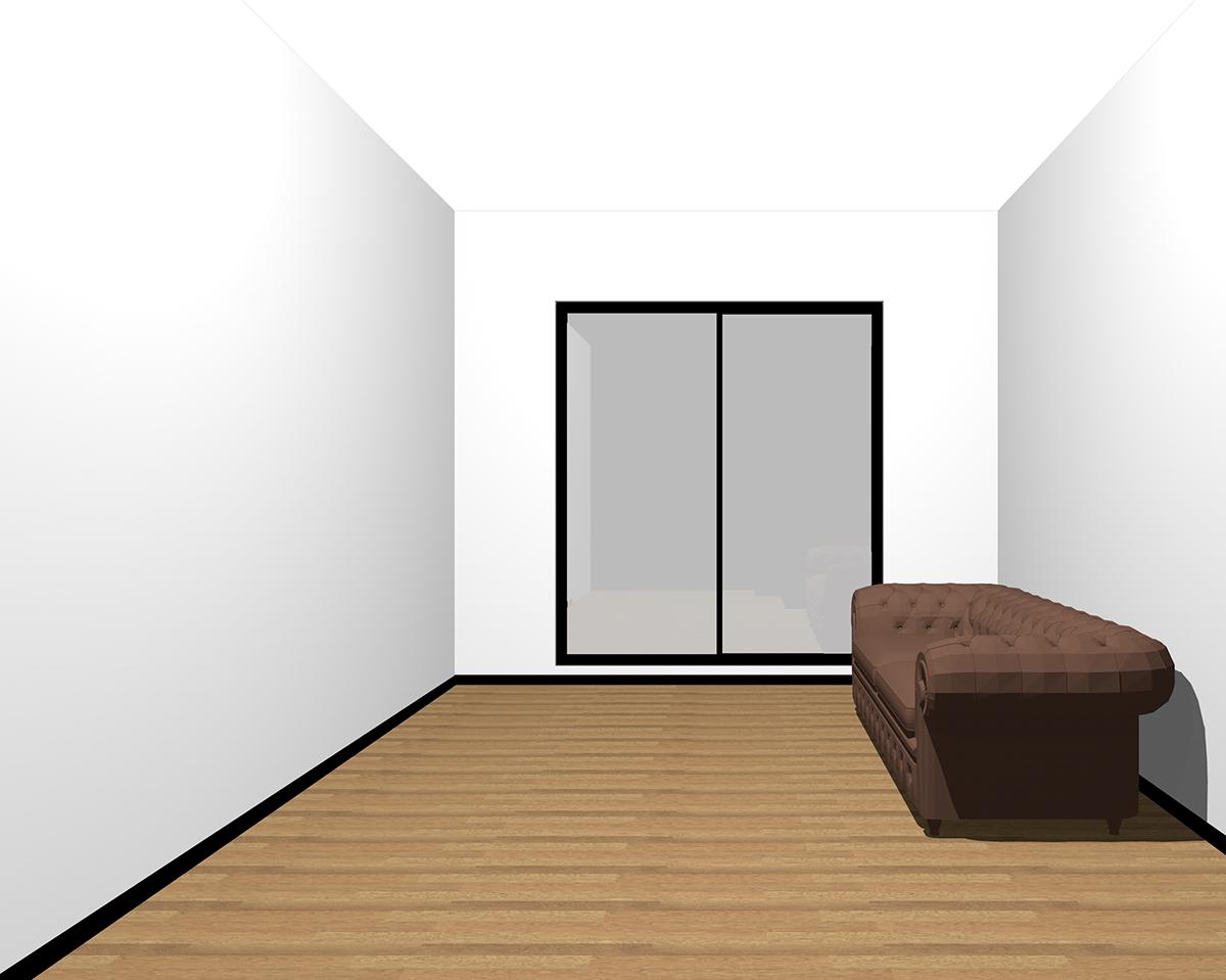 壁と天井が明るい部屋
