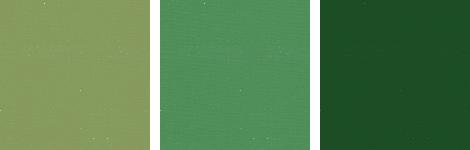 3つのトーン違いの緑