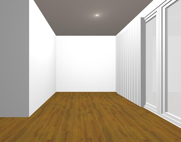 中間の茶色の床