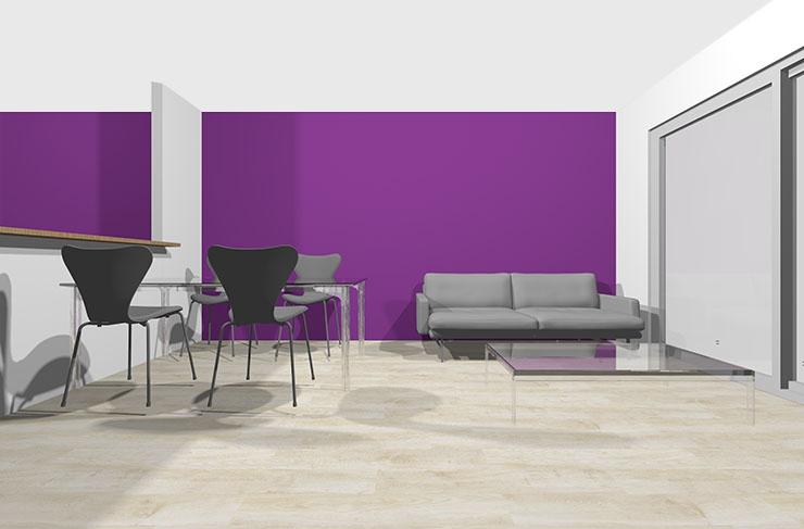 紫のアクセントクロス