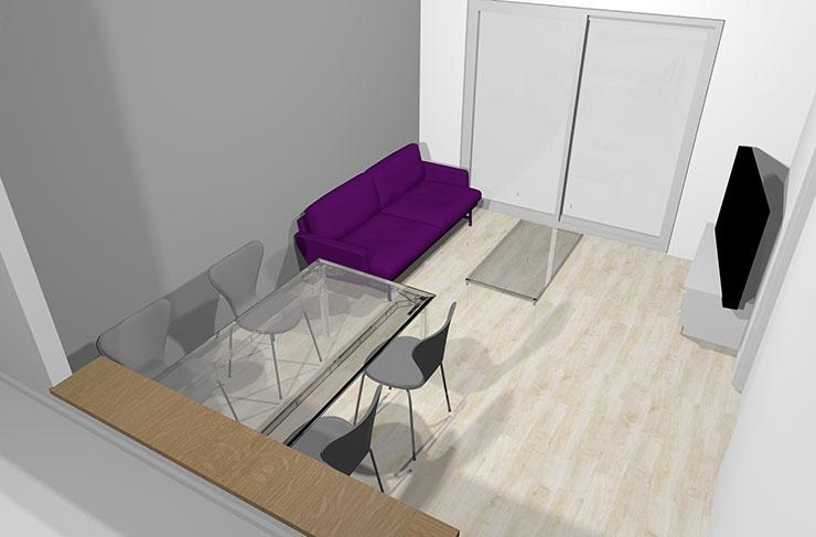 紫とグレー