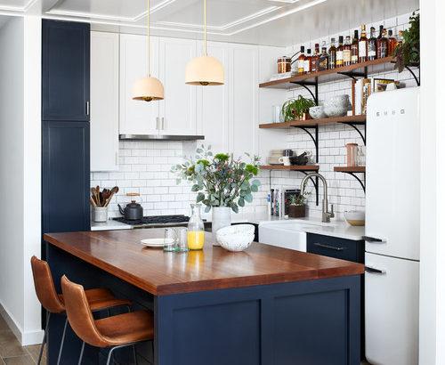 茶色の床とキッチンの色12種類のコーディネート実例50選