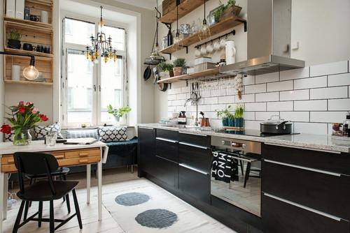 グレーの床と12色のキッチンのおしゃれコーディネート実例46選