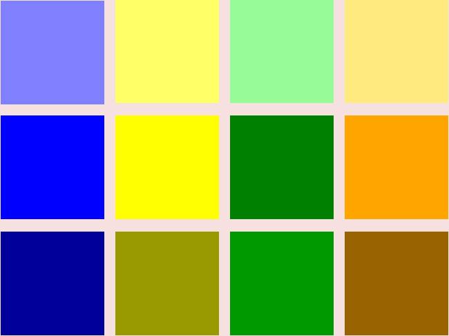 推奨4色のトーン違いの色