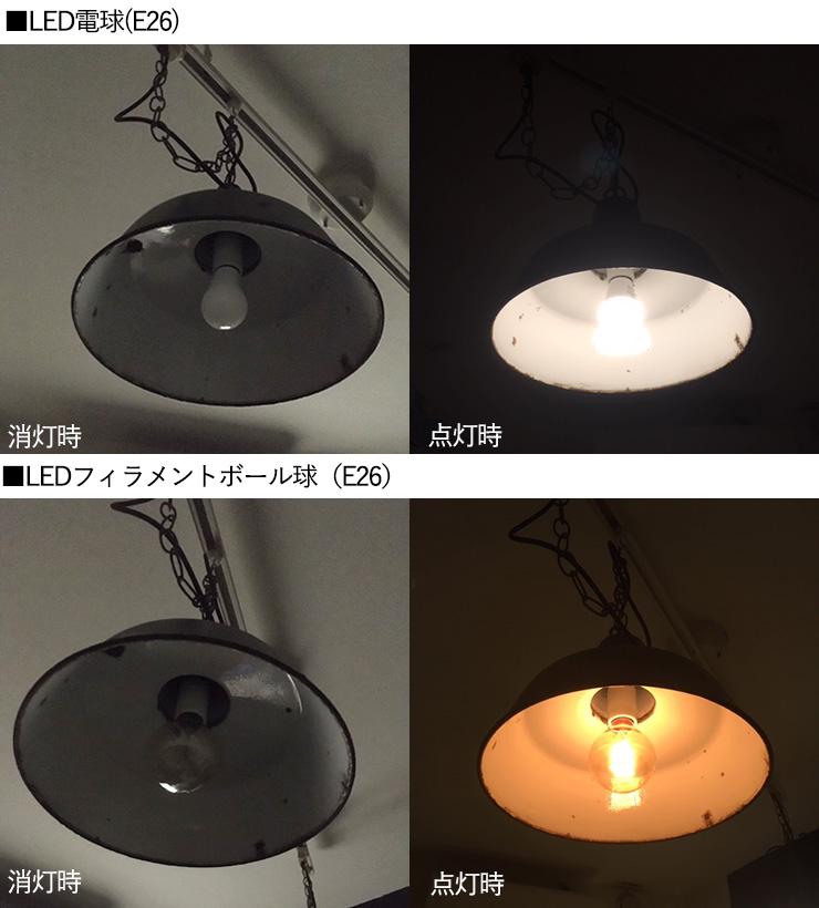 LED電球とLEDフィラメント球