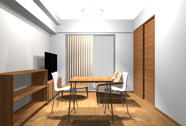 内装色と家具の色