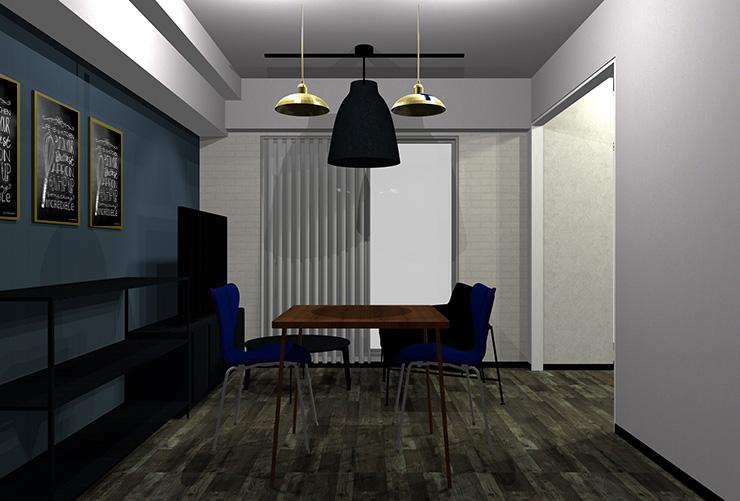内装と家具がヴィンテージなインテリア