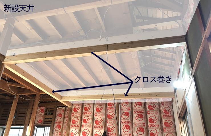 化粧梁と天井の関係