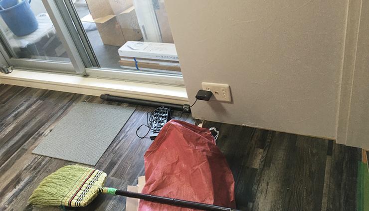 床暖房対応はめ込み式フロアタイル施工写真⑤