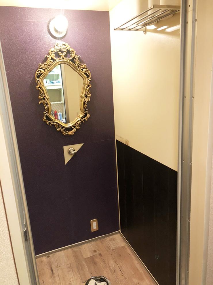 トイレの壁面施工経過