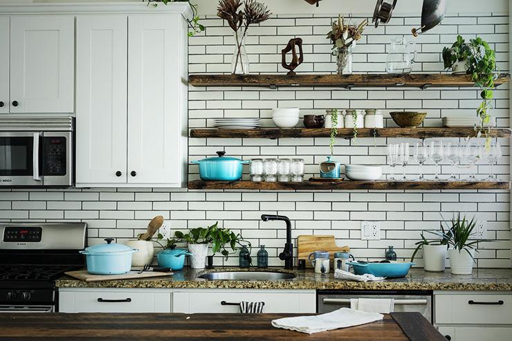 北欧スタイルのキッチン
