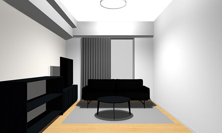 ②床色よりも思いっきり暗いブラック系