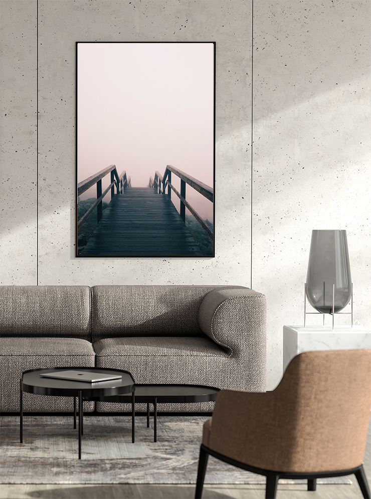 奥行きがある橋の絵(写真)
