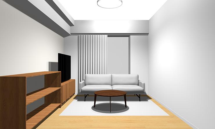 ④床色の温もりと反対の薄いグレー系