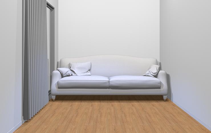 オフホワイトのソファ