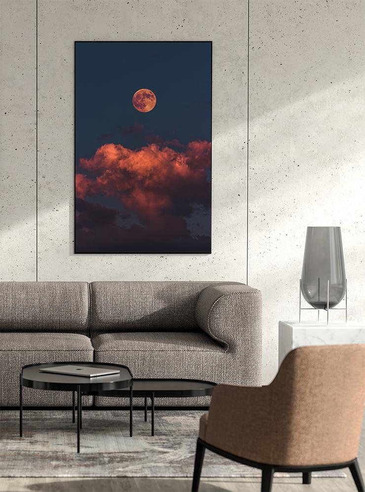 平坦な印象の空の絵