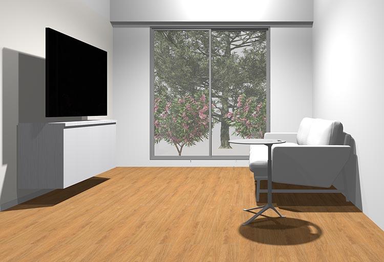 ソファとテレビボード