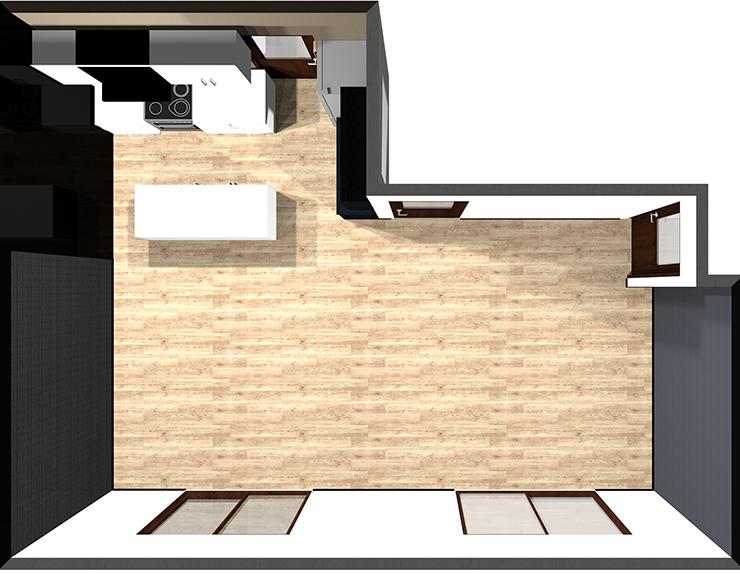 Ⅱ型対面キッチン(アイランド)