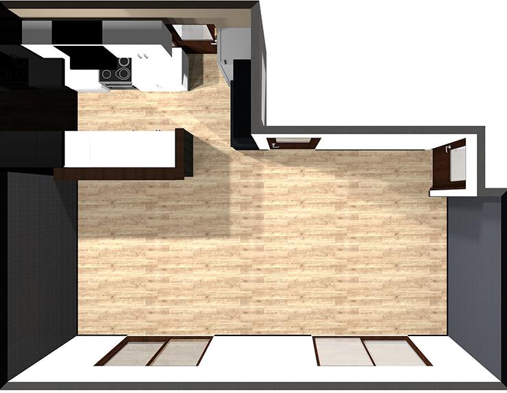 Ⅱ型対面キッチン
