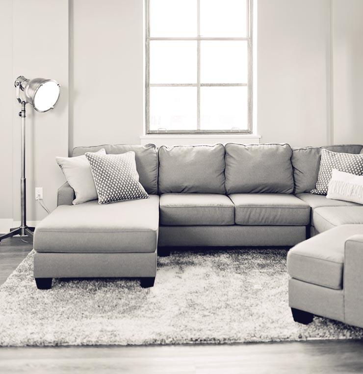 グレーのソファのインテリア