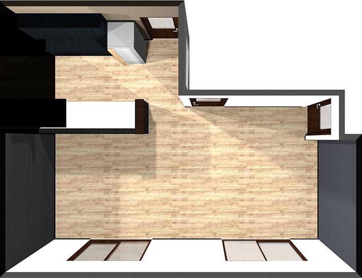 I型対面キッチン