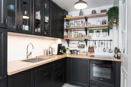 シェルフ&アイアンバーで見せる!センス溢れるキッチン実例50選