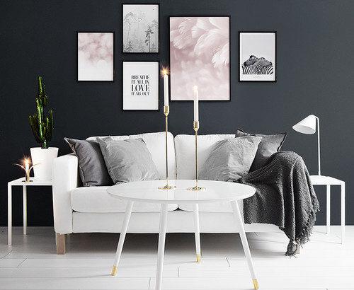 どの色が合う?壁の色4種類×額縁の色5種類の組み合わせ&60例