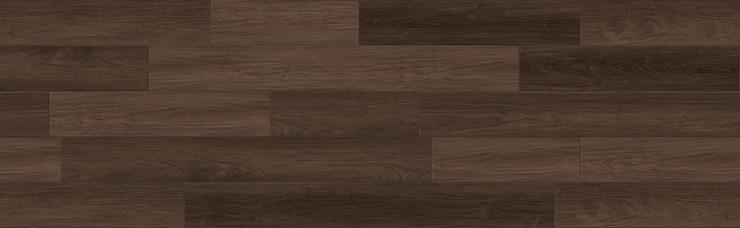 ウォールナット系ダークブラウンの床材
