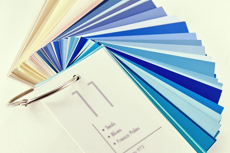パントンの色見本帳