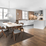 ホワイトキッチンインテリア-4種類の床色×4つのテイスト64選