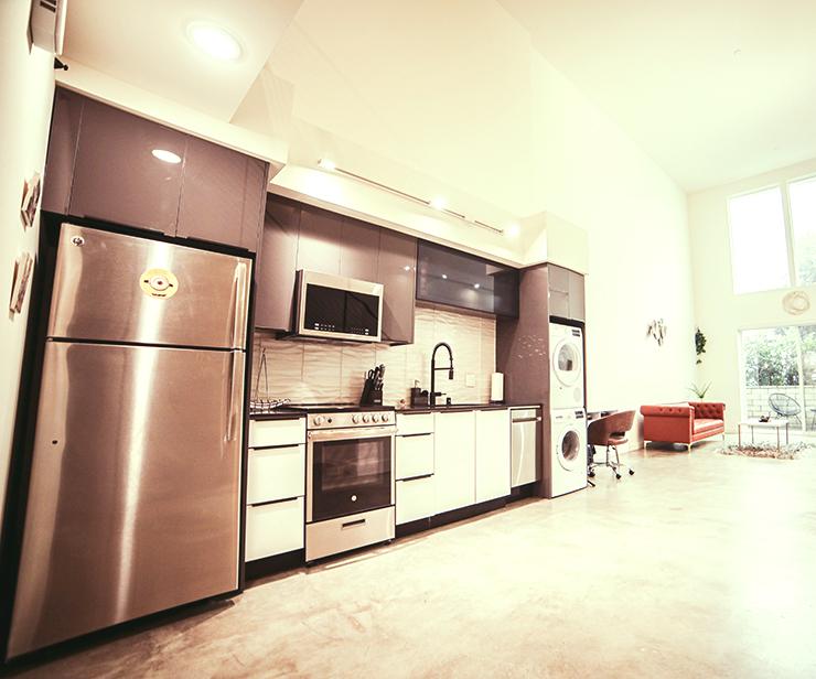 壁付けI型キッチン