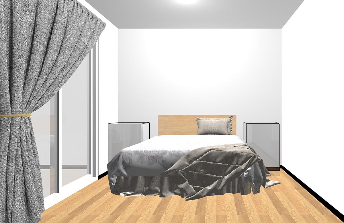 ベッドの両脇のスペース