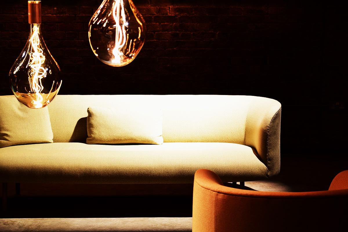 ベージュのソファ